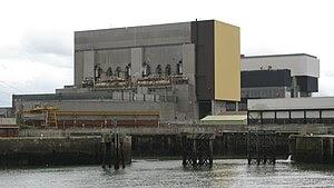 Heysham Power Station, from dockside. Showing ...