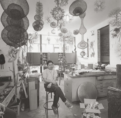 sfmoma:  debbipete:  In Memoriam - Ruth Asawa in her studio, 1969 (via Community of Creatives)  We're very sad to learn that artist and local legend Ruth Asawa passed away yesterday.