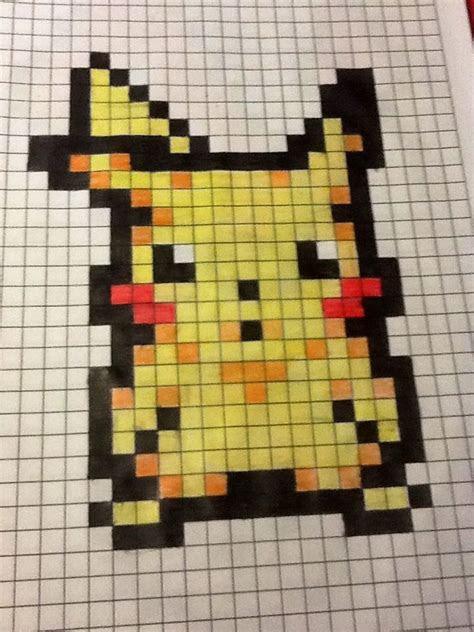 pikachu pixel art  bakagamergirl crochet art