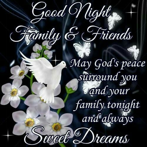 Good Night Family Friends Sweet Dreams Pictures Photos And