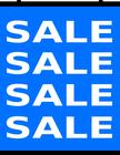 sale banner page blue