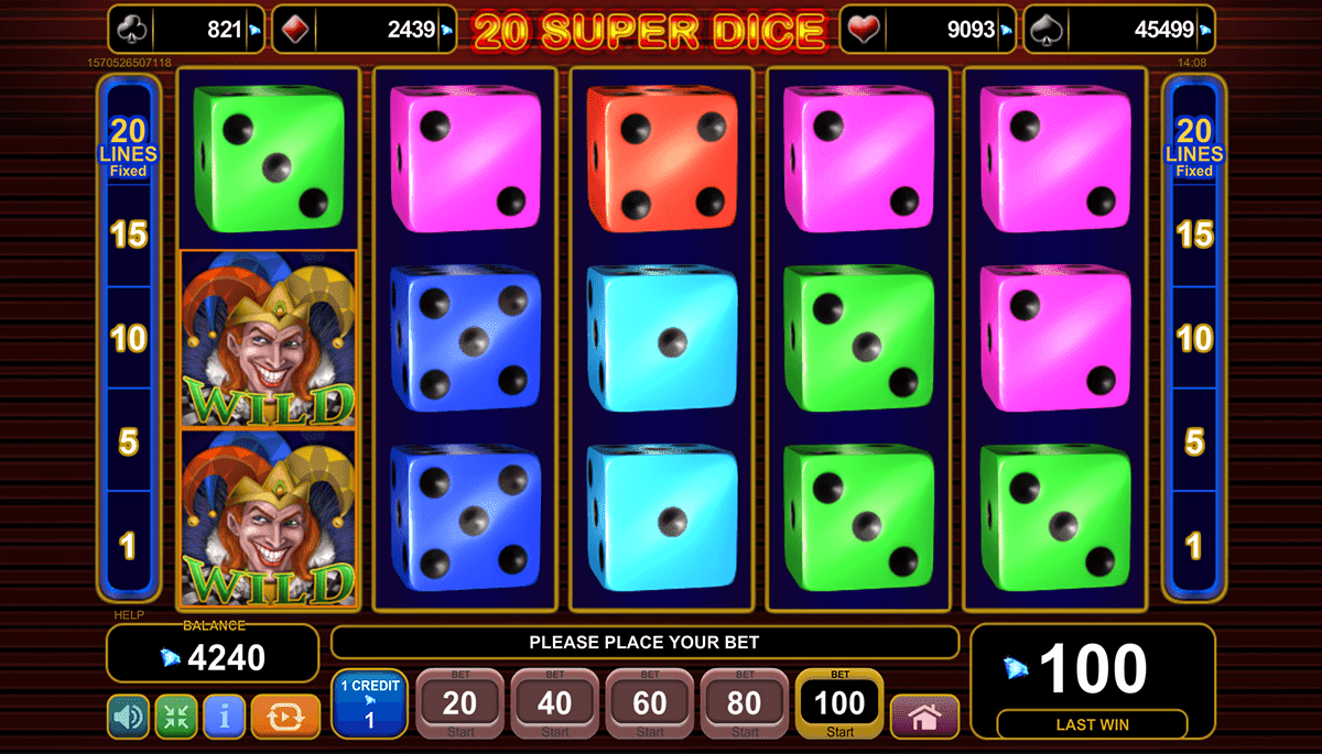 Super Dice slot is pretty average in all senses, 95% RTP and graphics-wise along with the soundtrack as you play.You do get the usual 4-tier EGT progressives available and win frequency is decent enough so you'll get a reasonable turnover in your quest for those big pays but really the expression