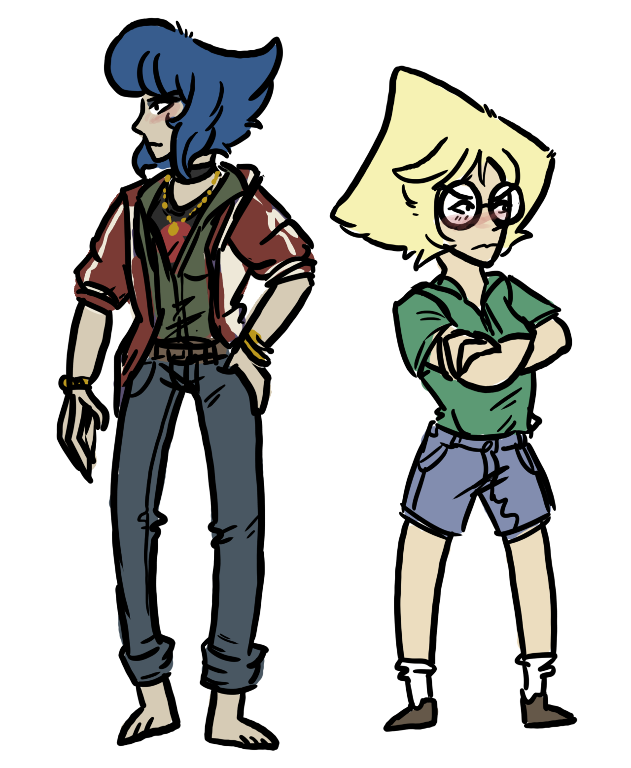 but consider college AU Lapidot where Lapis is an artist and Peridot is an engineer