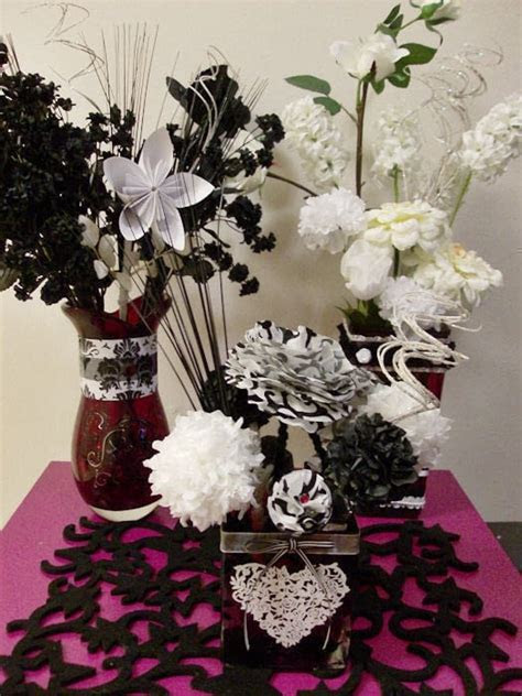 Black & White Floral Centerpiece Number 3 · A Table