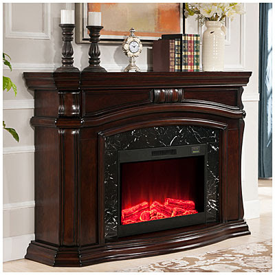 62 Grand Cherry Electric Fireplace Big Lots