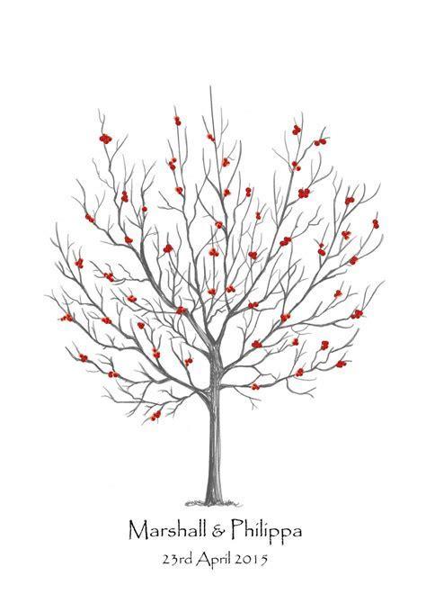Rowan Tree Fingerprint Guest Book Kit   Tattoo