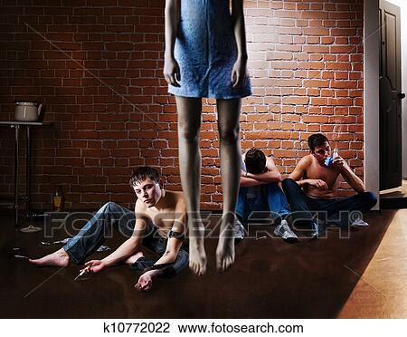 Banco de Imagem - vício droga, e, suicide., problema social. Fotosearch - Busca de Fotografias, Impressões, Imagens, e Fotos Clip Art