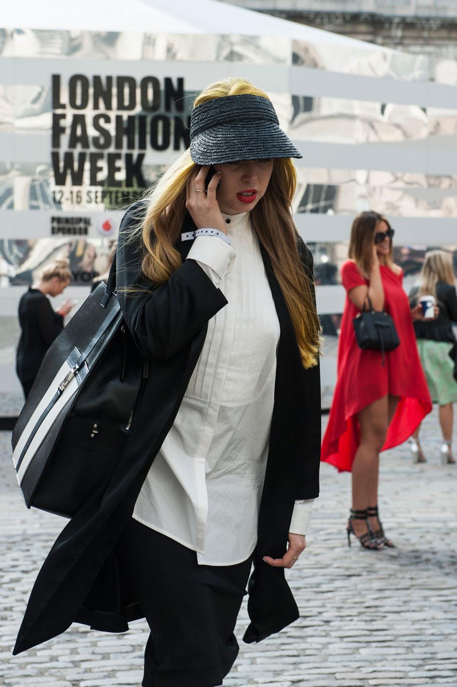 стритстайл на Неделе моды в Лондоне