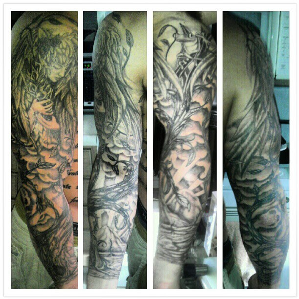 My Life In Deathguardian Angel Sleeve Done By Mickey Ratt At