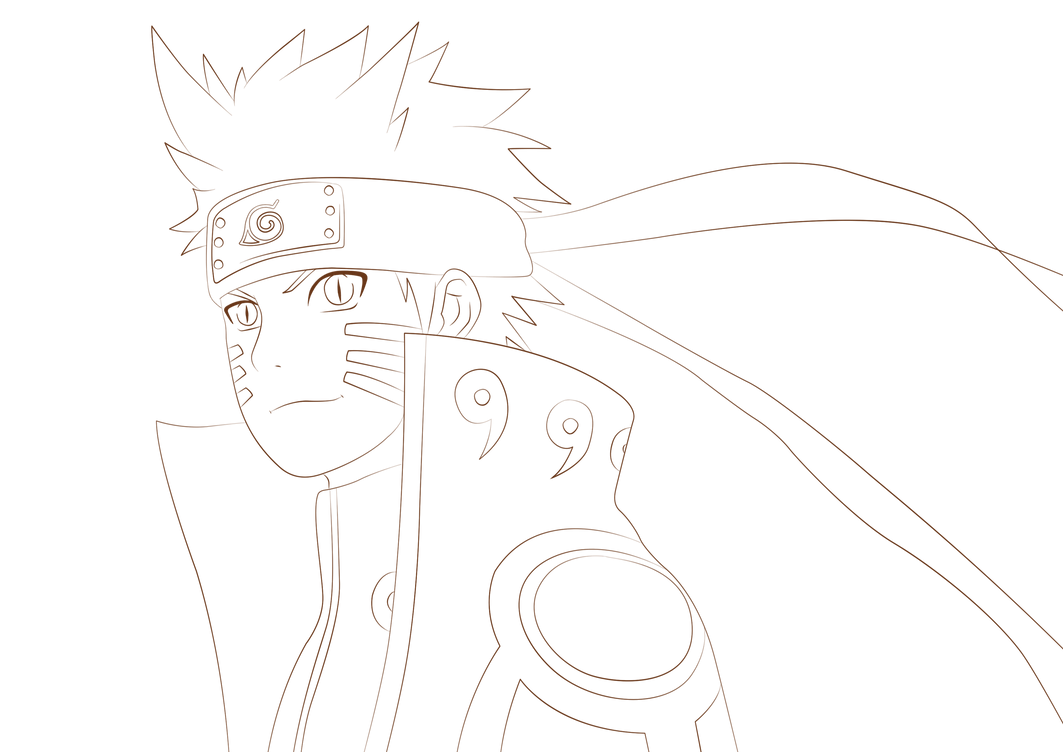 Naruto Kyuubi Mode Coloring Pages Coloring Pages Printable Naruto