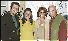 Jacquelyn Silverman, second from right,  today shows no signs of her medical ordeal.