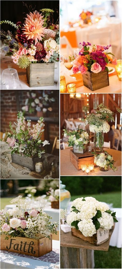 20 Best Wooden Box Wedding Centerpieces for Rustic