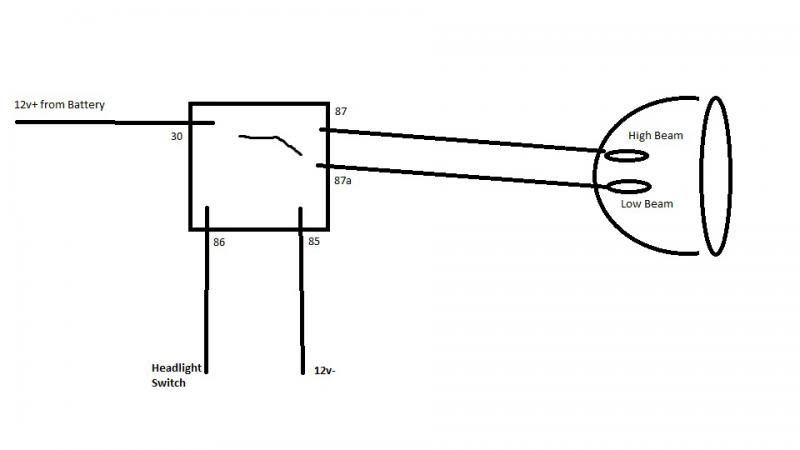 Motorcycle Spotlight Wiring Diagram