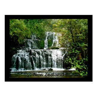 New Zealand Waterfall - Purakaunui Falls Postcards
