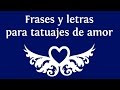 Frases Cortas De Amor Para Tatuajes En Espanol