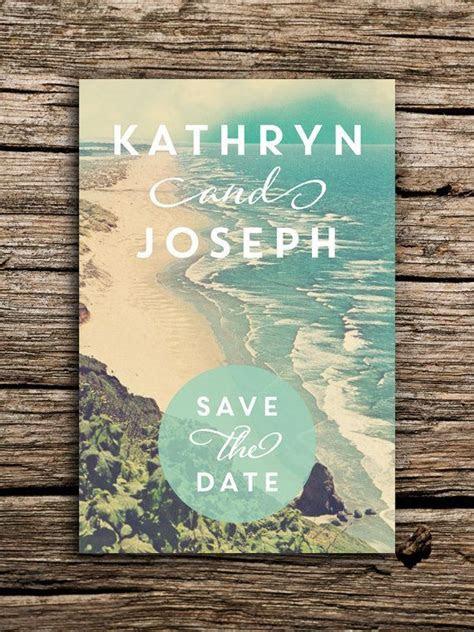 Tranquil Beach Wedding Save the Date Postcard