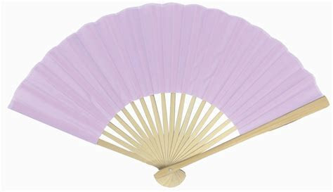 "9"" Lavender Silk Hand Fans for Weddings (10 Pack) on Sale"