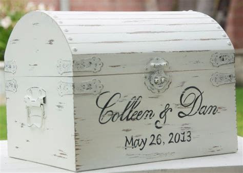 Large Vintage / Shabby Chic Wedding Card Box With Card