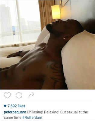 Peter Okoye Blasts Fan Who Criticized His Sexy Bedroom Photo & Caption