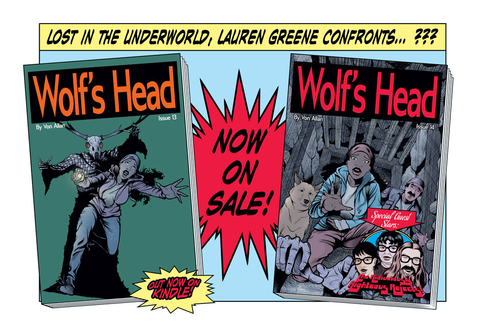 Wolf's Head teaser for Issues 13 and 14 by Von Allan on ComiXology