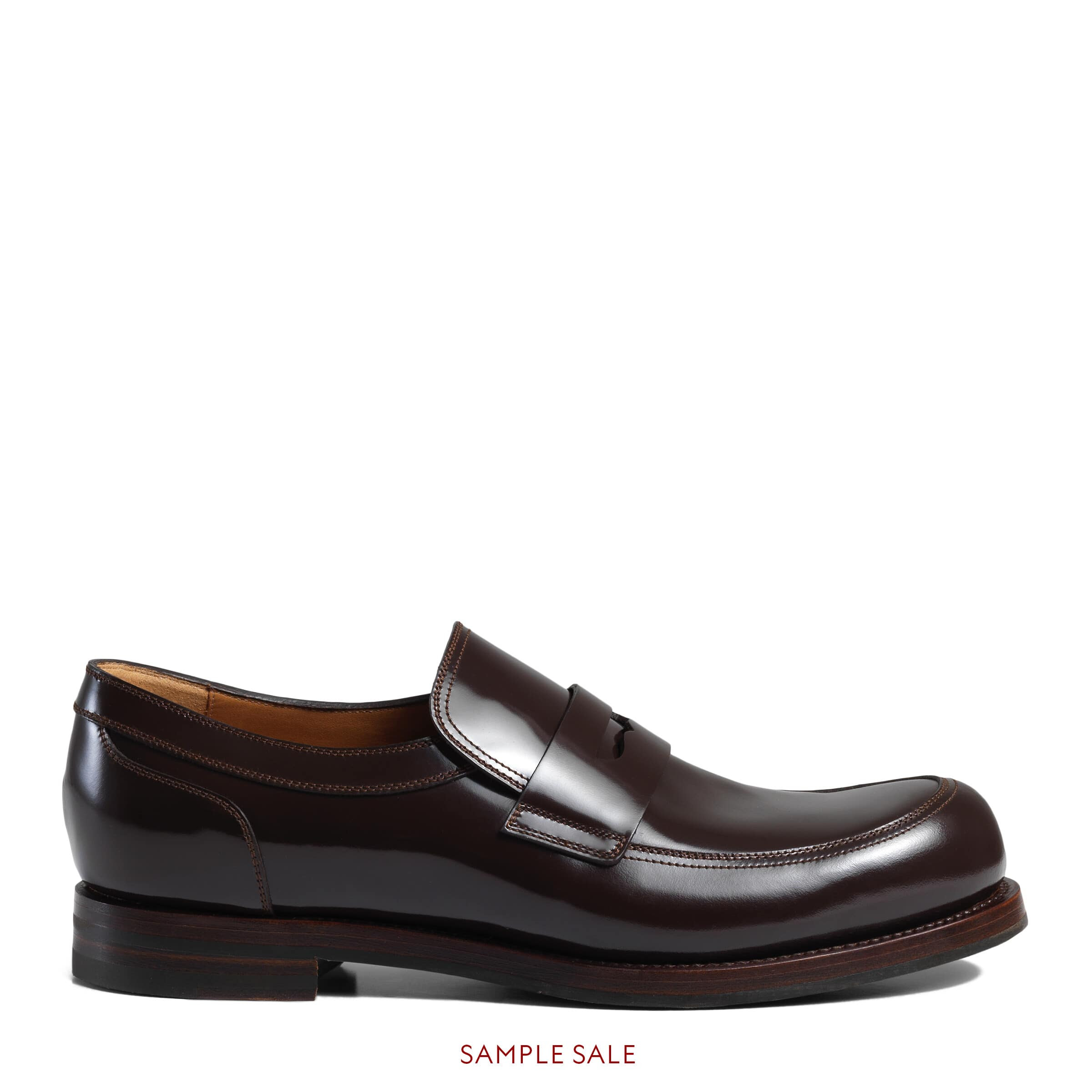 Gucci Men - Shiny leather penny loafer - 386541DKE002140