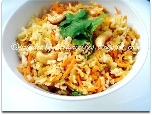 Carrot Masala Poha
