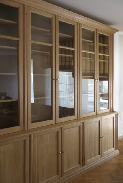 librerie in legno ante vetro trento