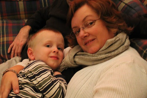 Aunt Kelly gets a snuggle in with nephew Phillip