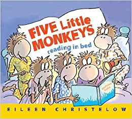 Five Little Monkeys Reading In Bed by Eileen Christelow book cover