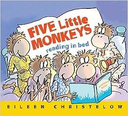 Five Little Monkeys Reading In Bed by Eileen Christelow book cover