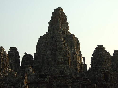 On the the major standing tower in Bayon Temple
