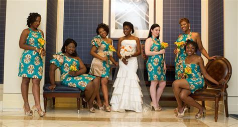 Colorful Teal and Orange Nigerian Fusion Wedding in