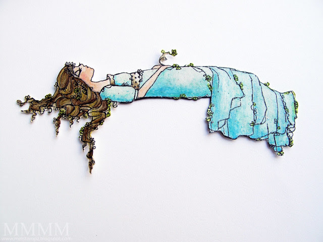 Print colour & cut sleeping beauty