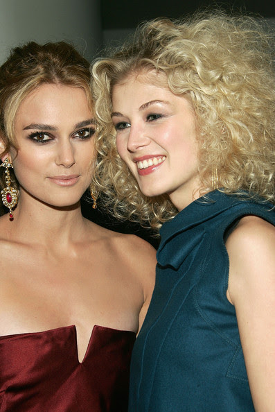 Actresses Keira Knightley and Rosamund Pike attend the premiere of 'Pride