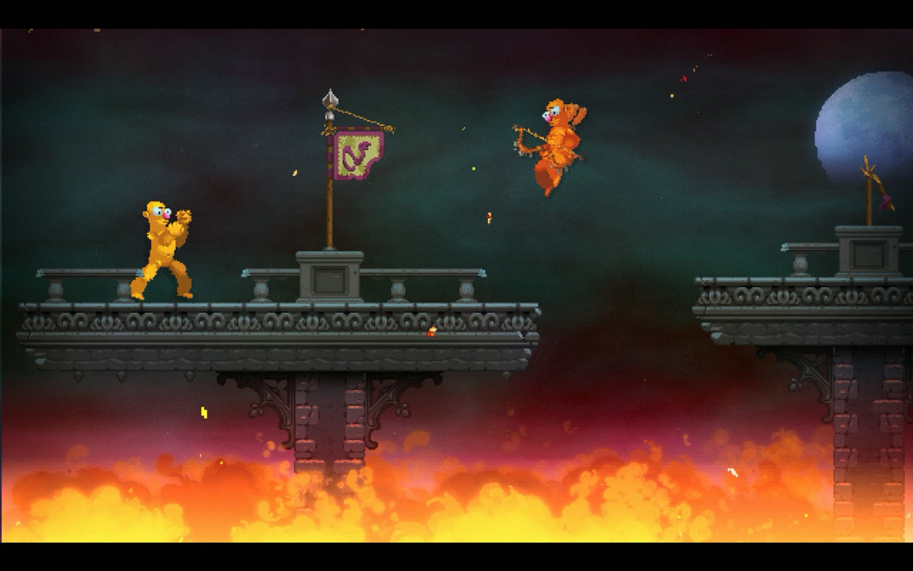 Nidhogg 2 is stabbing at an August release screenshot