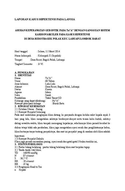 (DOC) LAPORAN KASUS HIPERTENSI PADA LANSIA | erwan rofi39