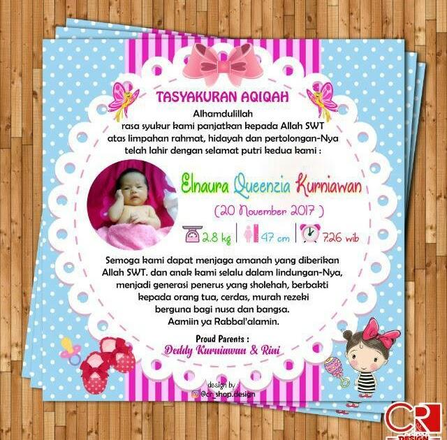 Desain Kartu Selapanan Bayi - kumpulan kartu ucapan