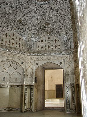 English: Sheesh Mahal, Amber Fort