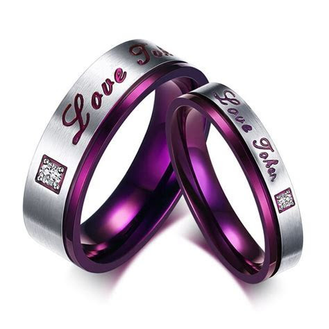 Cheap selling 316L Stainless Steel Promise Rings Love