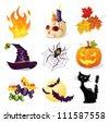 Halloween icon set - stock vector