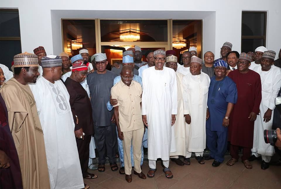 More Photos: The Remaining APC Senators All Smiles As They Pose With President Buhari