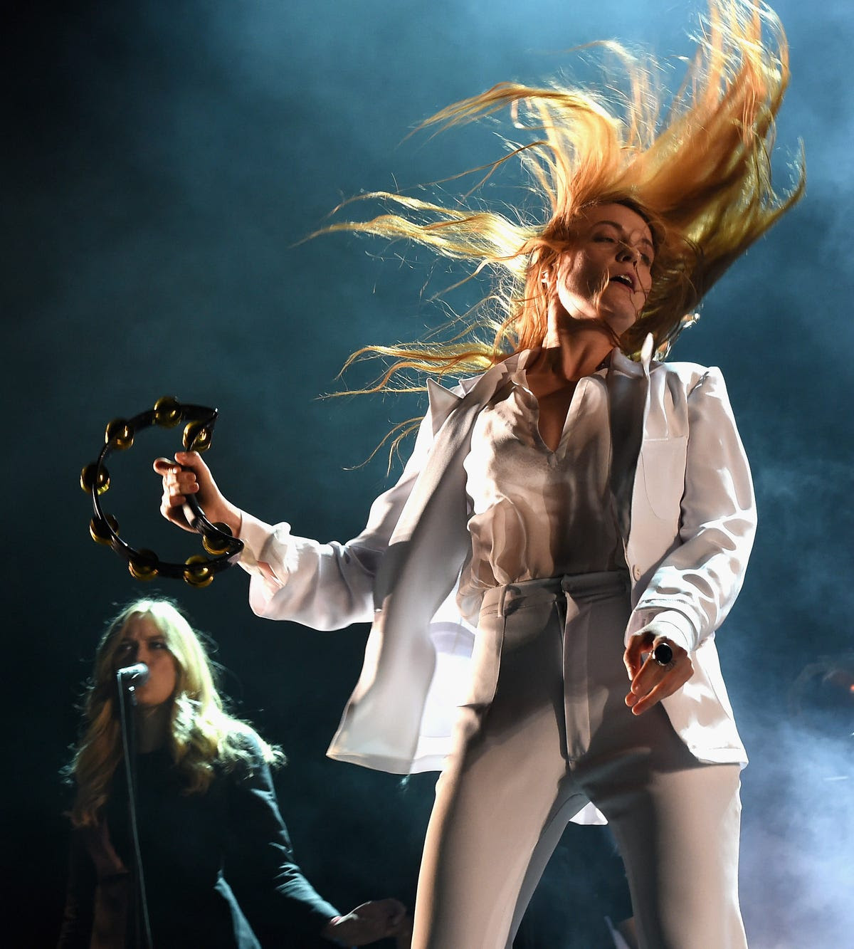 Florence Welch of Florence and the Machine gave one of the most hair-raising performances.