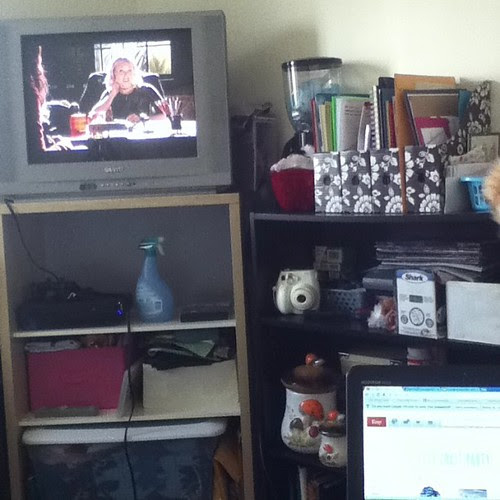 I'm thoroughly enjoying my new craft room... Veronica Mars and Etsy updating time!