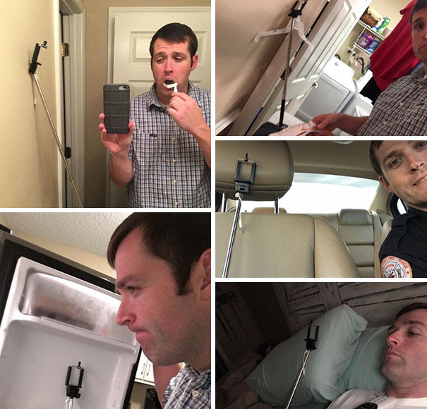 My Wife Asked Me To Take Some Pictures With My New Selfie Stick When Doing Stuff Throughout The Day