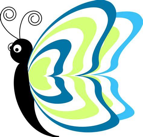 gambar vektor gratis kupu kupu abstrak serangga