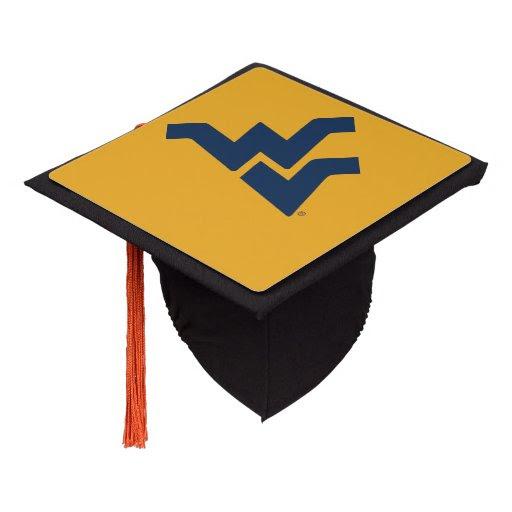 west_virginia_university_graduation_cap_topper r639d2eb5177d4742a9857a958fe5eb29_z55qp_512