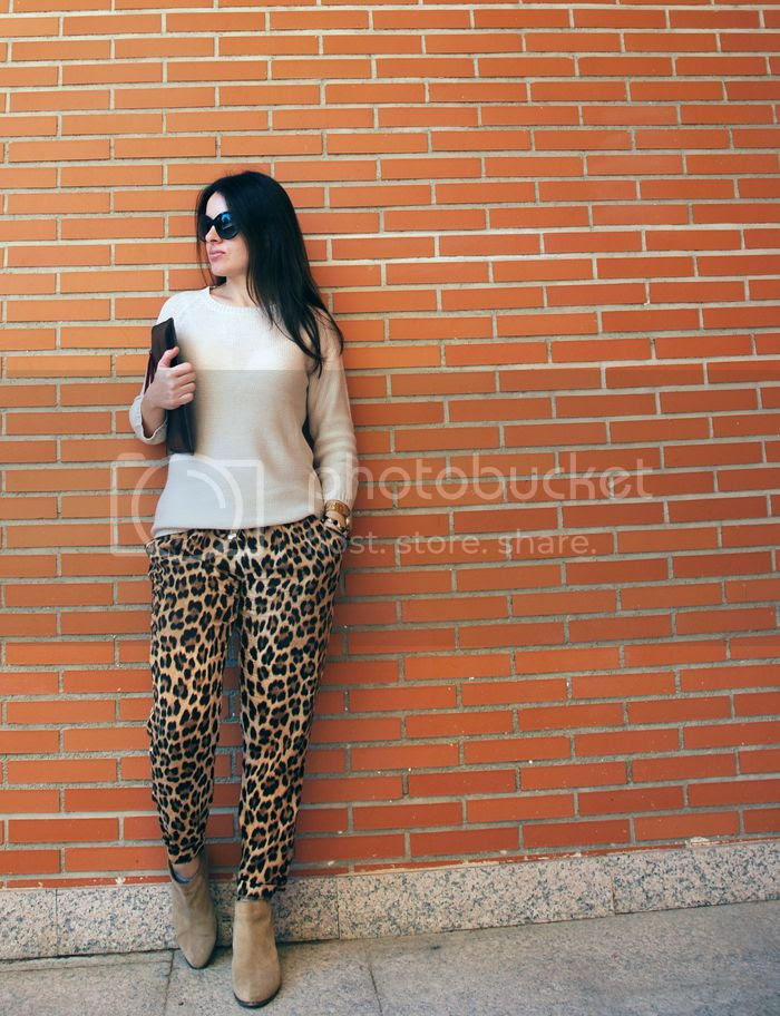 Leopard and knit