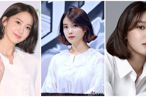 Model Rambut Bob Sebahu Ala Korea - Galeri Gambar