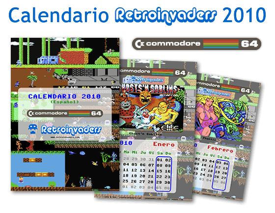 Calendario Retroinvaders 2010: juegos de Commodore 64
