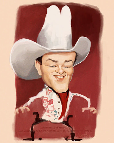 roy-rogers-king-cowboys-caricature by caricaturas